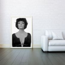 Elizabeth Taylor, Mosaic, Prints & Posters, Wall Art Print, Poster Any Size - Black and White Poster